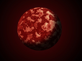 Red planet in space
