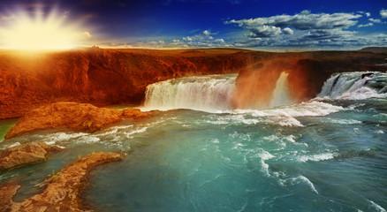 Götterwasserfall in Island