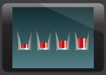 Tablet next generation diagramm concept vector illustration