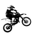 Rider participates motocross championship.  Vector illustration. - 82391086
