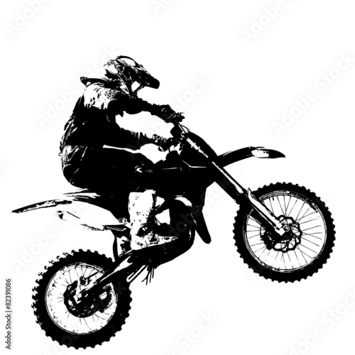 Zdjęcia na płótnie, fototapety, obrazy : Rider participates motocross championship.  Vector illustration.
