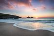 Sunset at Holywell Bay
