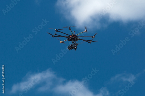 drone, UAV , Multirotor Photography Helicopter - 82391803