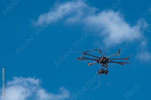 drone, UAV , Multirotor Photography Helicopter - 82391845
