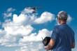 Leinwanddruck Bild - drone, UAV , Multirotor Photography Helicopter