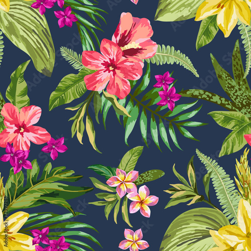 Cotton fabric Seamless exotic pattern.