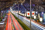 Harajuku, Tokyo, Japan Night Traffic