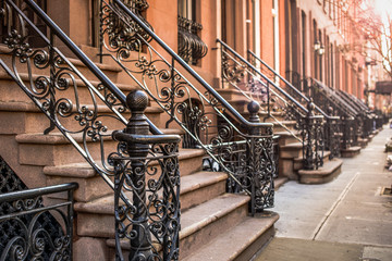Brownstone Apartments in the Chelsea district of New York