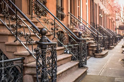 Foto op Aluminium Verenigde Staten Brownstone Apartments in the Chelsea district of New York