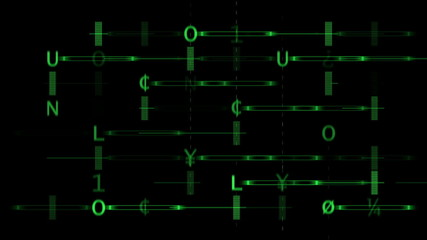Green Alphabet array