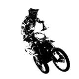 Fototapety Rider participates motocross championship.  Vector illustration.