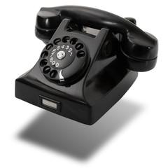 vecchio telefono sospeso