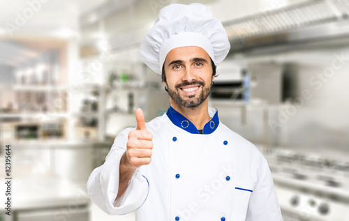 Portrait of a successful smiling chef - 82395644