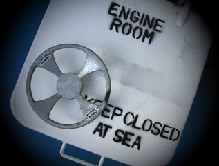 Engine Room In A Ship