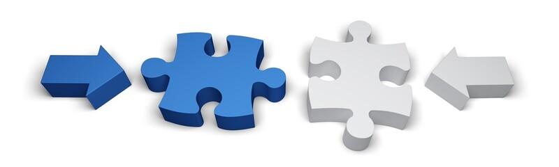 Puzzle. 3D. Separating