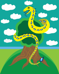 Snake and tree of life.