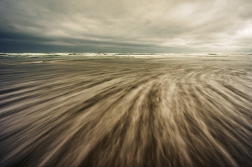 abstract seascape with long exposure