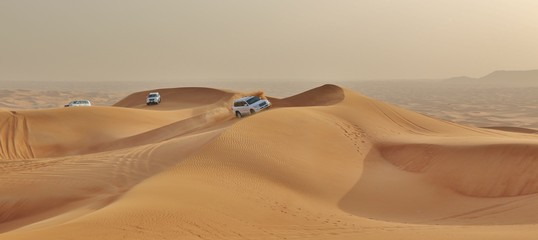 car in desert