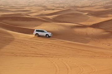 car in desert