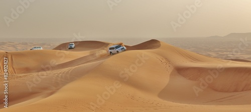 Aluminium Dubai car in desert
