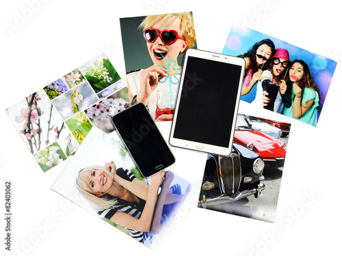 gadgets with printed photos - 82403062