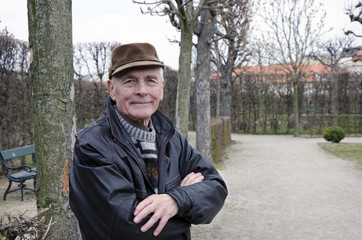 The senior in the park in Vienna.