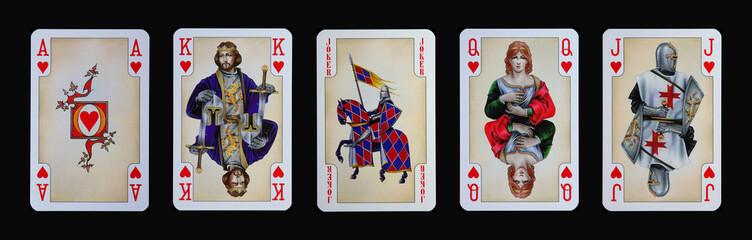 Spielkarten - Gothia - HERZ in der Ritterzeit