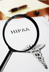 HIPAA document magnified