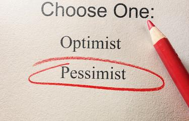 Pessimist survey circle