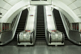 Empty subway escalator