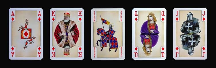 Spielkarten - Gothia - KARO in der Ritterzeit