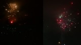 montage - Detonating fireworks (firecrackers) to celebrate