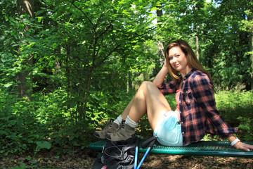 Rasten im Wald