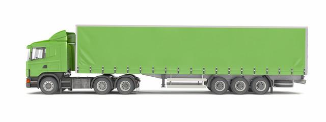 cargo truck - green - shot 40