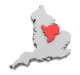 East Midlands region in England poster
