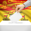 Ballot box with Canadian province flag - New Brunswick