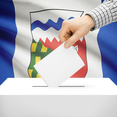 Ballot box with Canadian province flag - Northwest Territories