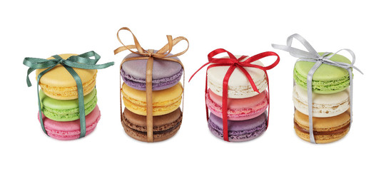 French macaroons. Sweet and colourful dessert