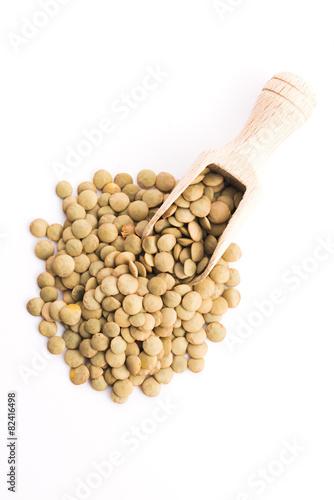 Lentils Isolated on White Background - 82416498