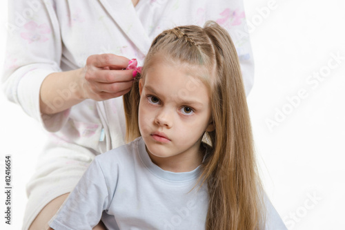 poster of My daughter is tired of long hair splicing