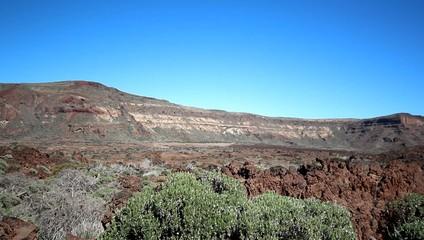Pico del Teide surreal volcano landscape - desert valley -