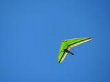 Gliding in blue sky