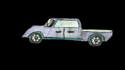 Cartoon car animation alpha loop