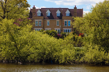 House on the bank of Thames. London