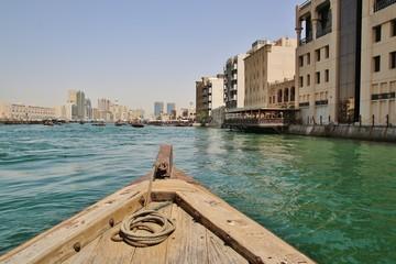 wooden boats in Dubai