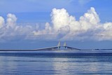 Skyway bridge in saint petersburg poster