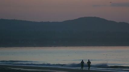 Beach jogging