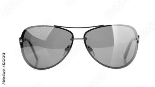 Leinwandbild Motiv Aviator sunglasses isolated on white background