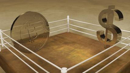 Bitcoin conceptual fight