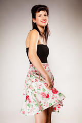 pin up summer girl retro styling